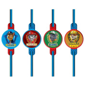 8 x Official Paw Patrol Drinking Straws Birthday Party Tableware