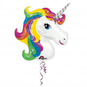 83cm Giant Rainbow Unicorn Supershape Balloon Helium Foil Balloon Party Decoration