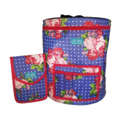 Knitting Bag - Crocheting Bag. Perfect Skeins Storage Bin Thats Light, Portable and Easy to Carry. A Must Have Wool Holder for all Your Knitting and Crochet Projects. Comes With an Accessories Pouch to Make it the Perfect Gift.