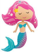 Mermaid 110cm Supershape Foil Balloon Party Decoration