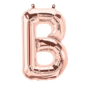 41cm Letter B Rose Gold Foil Balloon