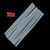 EXOH 10pcs Non-toxic Translucence Hot Melt Glue Sticks
