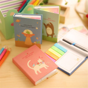 Affe 1 Pcs/Lot Cute Animal Notepad Combination Sticky Notes with Pen N Times Posted Notepad-Memo Pads-Sticky Note-Label