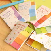 Affe 4 Pcs/Lot Cute Rainbow Mini Memo Pad Double Layers Colourful Note Pads Notepaper Sticky Post Office School Supplies Gift