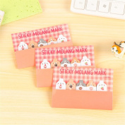 Affe 3 Pcs Cute Eating Dessert Strawberry Rabbit Mini Memo Pad Sticky Notes Self-Adhesive Label Office School Supplies Christmas Gift