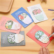 Affe 5 Pcs Creative Flowers Self-Adhesive Mini Memo Pad Sticky Notes Label Office School Supplies Christmas Gift