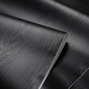 Textured Black Wood Grain Contact Paper Vinyl Self Adhesive Shelf Drawer Liner for Bathroom Kitchen Cabinets Shelves Table Arts Crafts Decal 60cm x 300cm
