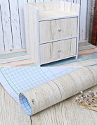 White Maple Wood Grain Contact Paper Vinyl Self Adhesive Shelf Drawer Liner for Bathroom Kitchen Cabinets Shelves Table Arts and Crafts Decal 60cm x 300cm