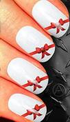 Christmas Nail art decals transfer stickers Cute christmas red ribbon cs13