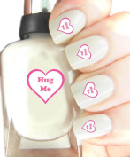Easy to use, High Quality Nail Art Decal Stickers For Every Occasion! Ideal Christmas Present / Gift - Great Stocking Filler Hug Me