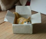 JIANGU,小猫咪摆件,自在创意趣味摆件,仿真动物可爱装饰品,生日礼物
