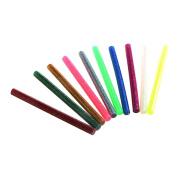 CHIC*MALL 10 Pcs Kitchen Hot Melt Glue Adhesive Glitter Hot Melt Glue Sticks