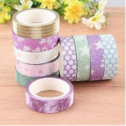 Vasyle Polishing tape Glitter film tape paper stationery gift stickers shiny children 's toy paper tape