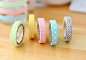 outflower 5x Self-adhesive Ribbon Candy Colours Rainbow Tape DIY Sticker