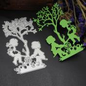 Janly® 3D Animal Metal Cutting Dies Stencils Girls / Dog /Cat / Owl Scrapbooking