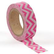 Neon pink zig zag washi tape