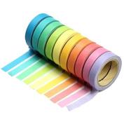 10x Honosu Washi Tapes bunt Klebeband Dekoratives Klebeband Dekoband