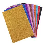 treasure-house 20 Sheets A4 Glitter Self-Adhesive Craft Vinyl Art Sparkling Sign Sticker Gemstone Metallic Colour Diy Gift