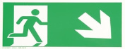 smartboxpro 245186410 Sign – Emergency Exit Right/Down 29.7 x 14.8 cm red/white