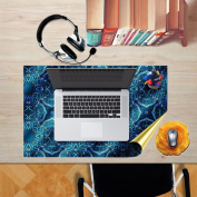 3D Stylish Personalised Creative Desktop stickers waterproof and dustproof oil can be replaced without adhesive stickers,75x42cm