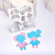 Janly® Metal Cutting Dies for Merry Christmas Happy Halloween Doll Floral Snowman Embossing DIY Crafts Stencils Scrapbooking