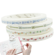 Washi Tape Decorative Paper Tape Slim Paste Repeatedly Durable for Planners, Decorating, Scrapbooking 5mm x 7m