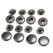 styleinside 50 Pcs 13mm Vintage Black Metal Snap Press Fasteners Sewing Buttons Studs New