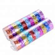 Outflower 10pcs Star Adhesive Washi Shining Masking Decorative Tape Scrapbooking DIY Crafts Random