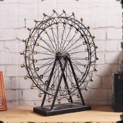 PENG Retro electroplating iron ornaments nostalgic romantic Ferris wheel craft Decoration home soft suit decorations