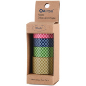 Decorative Washi Tape Assorted Widths 5M 4/Pkg-Checker