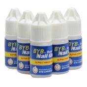Flybuld 5 Pcs/Set Nail Glue Use for Rhinestones Nail Stickers False Tips High Quality Nails Decoration Beauty