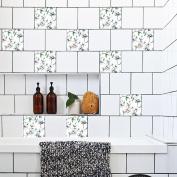 JHYS TS016 Multicolor Magnolia pattern Pearl film Tile stickers Removable Decals Decoration Waterproof oil-proof Wallpaper 20 * 20cm * 10pcs