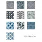 JHYS TS017 Multicolor Damascus pattern Tile stickers Removable Decals Decoration Waterproof oil-proof Wallpaper 20 * 20cm * 10pcs