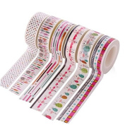 6 Rolls Washi Tape Set, Decorative Adhesive Tape for DIY Crafts,Beautify Bullet Journals ,Planners