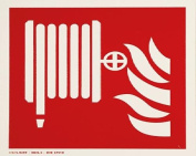 smartboxpro 245148810 FIRE SAFETY SIGN – FIRE HOSE, 20 x 20 cm Red/White