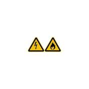smartboxpro 245154005 Warning Sign Warning – Feuergefährlichen, 20 cm, Yellow/Black