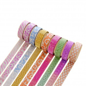 10Pcs Wicemoon Paper Tape 5M Length Creative Simple Wave Point Tape Cute Decorative Stickers DIY Craft Scrapbooking