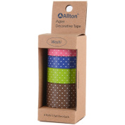 Decorative Washi Tape Assorted Widths 5M 4/Pkg-Dots