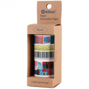 Decorative Washi Tape Assorted Widths 5M 4/Pkg-Numbers