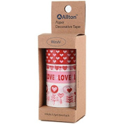 Decorative Washi Tape Assorted Widths 5M 4/Pkg-Hearts