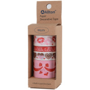 Decorative Washi Tape Assorted Widths 5M 4/Pkg-Valentine