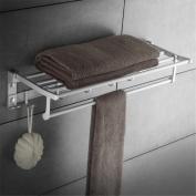 xiuxiandianju Kitchen Furniture Towel BarWall Mounted Space aluminium Towel Holder Swivel Bathroom Kitchen Towel Rack Rail Single/double pole Rustproof Foldable , 50cm