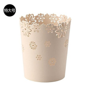 Hamhu Plastic Household Garbage Can Without Cover,Extra White Rice