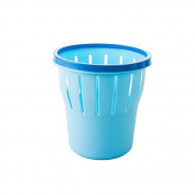 Hamhu Non Cover Pressing Household Tabletop Wastepaper Basket,Trumpet Blue