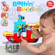 FB FunkyBuys® Baby Toddler Buddy Bath Kids Pirate Ship Squirting Bath time Toy with Suckers to Stick to Bath or Tiles - 18 Months+