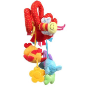 HTTMYY Baby Crib Activity Spiral cloth Toys Stroller and Travel Activity Toy Lovely Cartoon