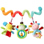HTTMYY Baby Prams Stroller Bed Spiral Activity Hanging Toys Lovely PP Cotton + Plush Boys and Girls