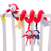 HTTMYY Baby Crib Hanging Spiral Animal Toys Soft Crystal Velvet Sense Developmental Education Activity Interactive