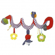 HTTMYY Kid Spiral Activity Toy Stroller and Travel Hanging Toy Baby 0-2 Years Old Cloth