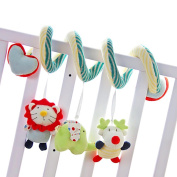HTTMYY Baby Cot Spiral Activity Hanging Rattle Toys Crib Ornament Soft PP Cotton + Crystal Velvet